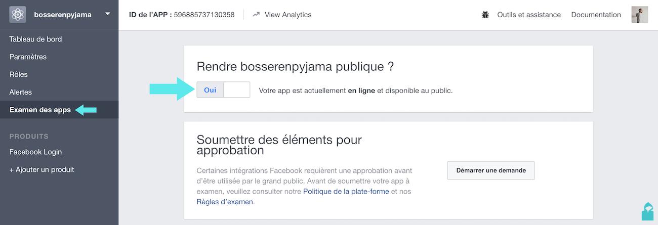 facebook app examen oui