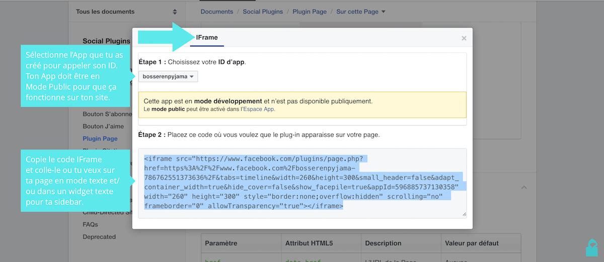 facebook plugin page iframe code
