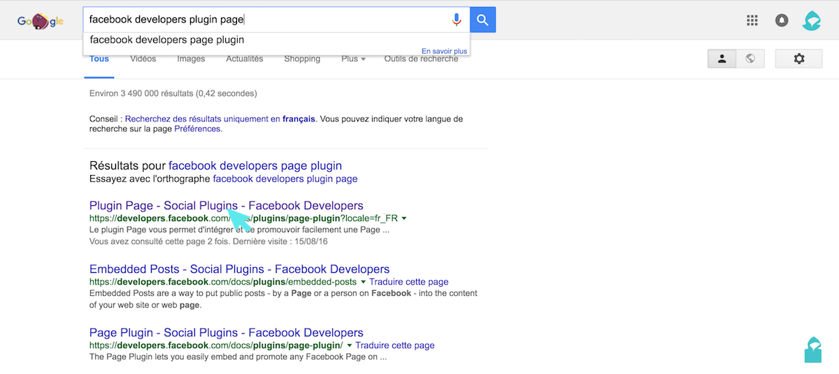 facebook plugin page