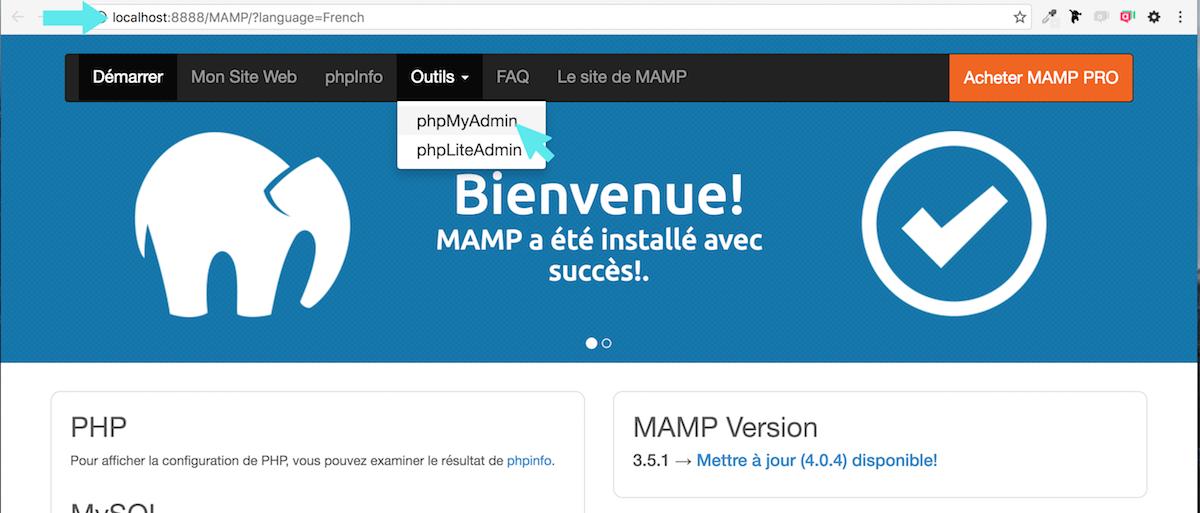 mamp php my admin