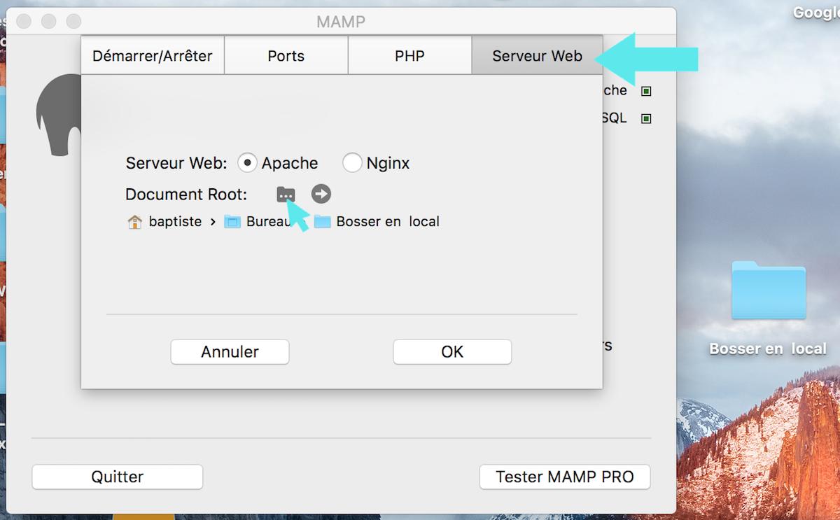 mamp serveur web