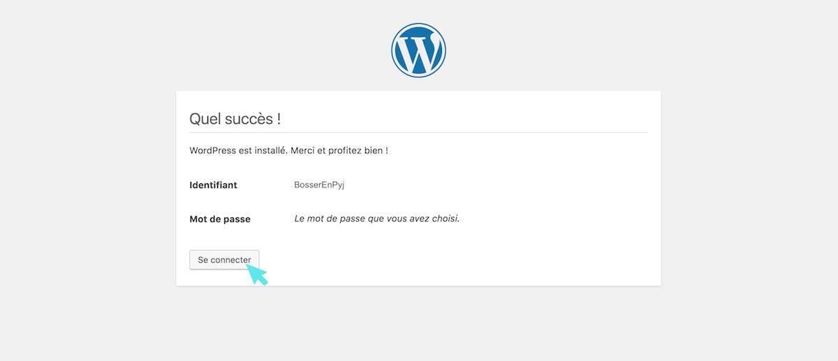 wordpress se connecter
