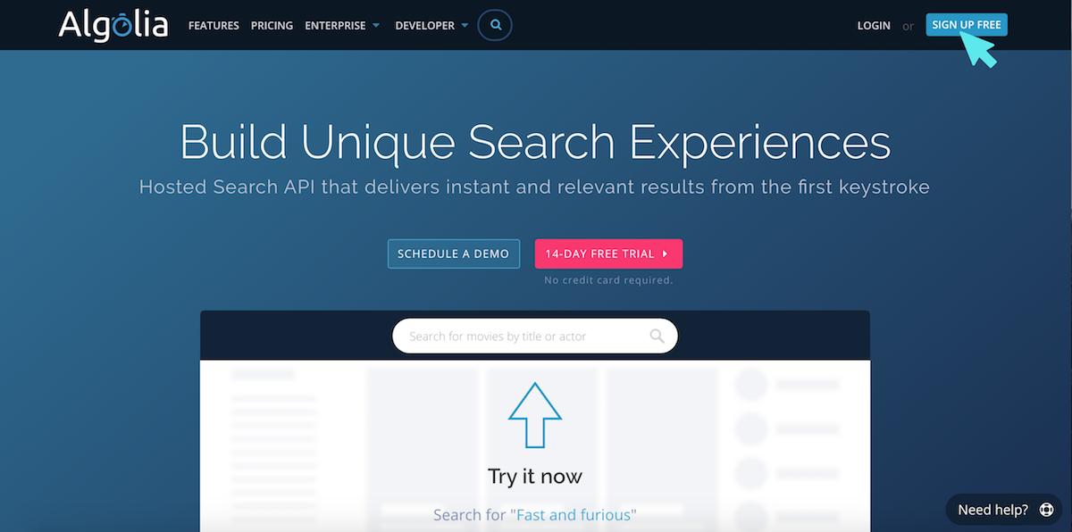 algolia searchbar