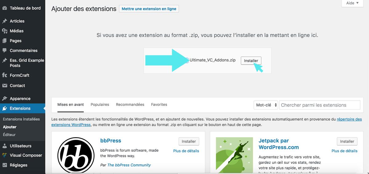 wordpress extension