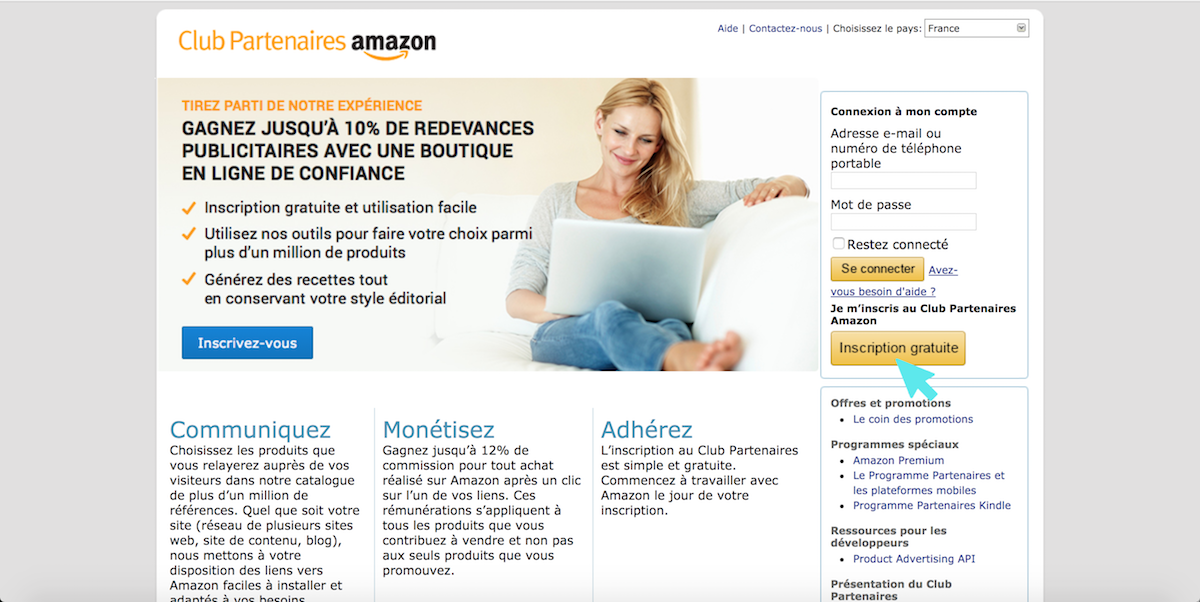 amazon inscription partenaire