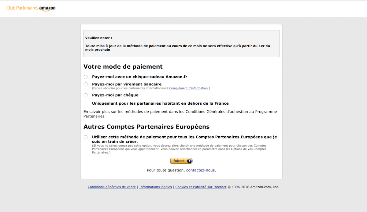 amazon mode de paiement