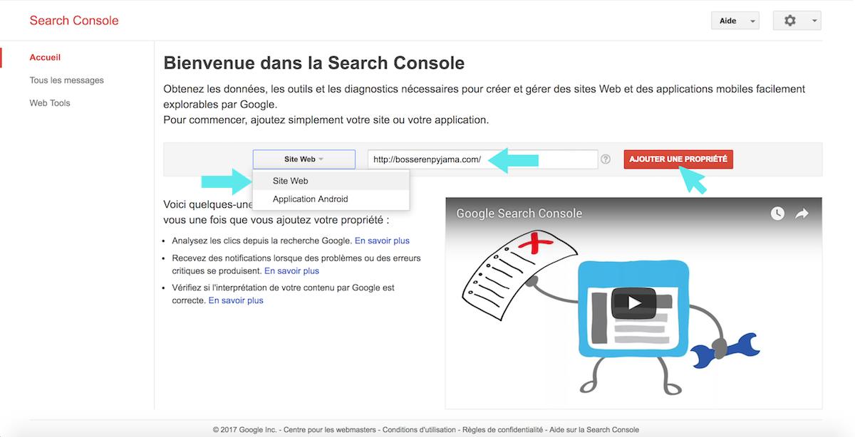 google search console web