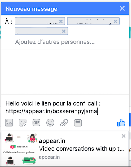 appear in messenger share