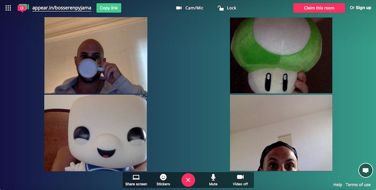 appear in webcam room