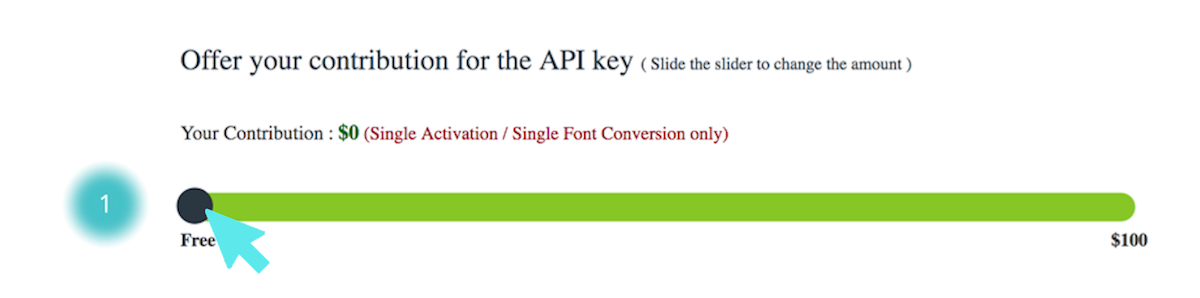 use any font api key free