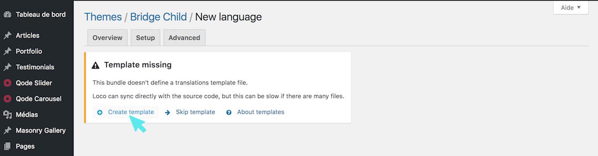 loco translate plugin template
