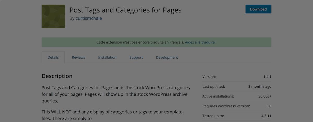 posts categories pages wordpress plugins