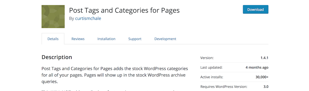posts tags and categories plugin