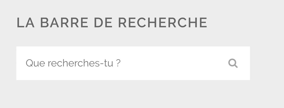 searchbar traduite