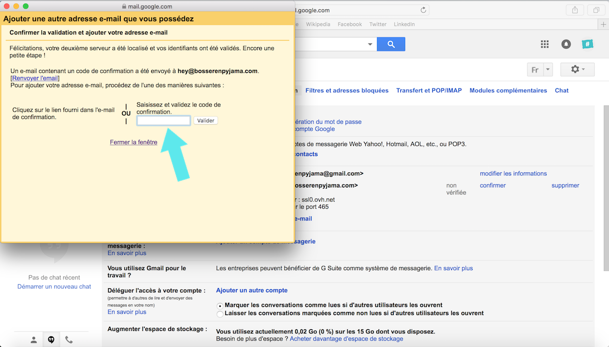 confirmation code gmail