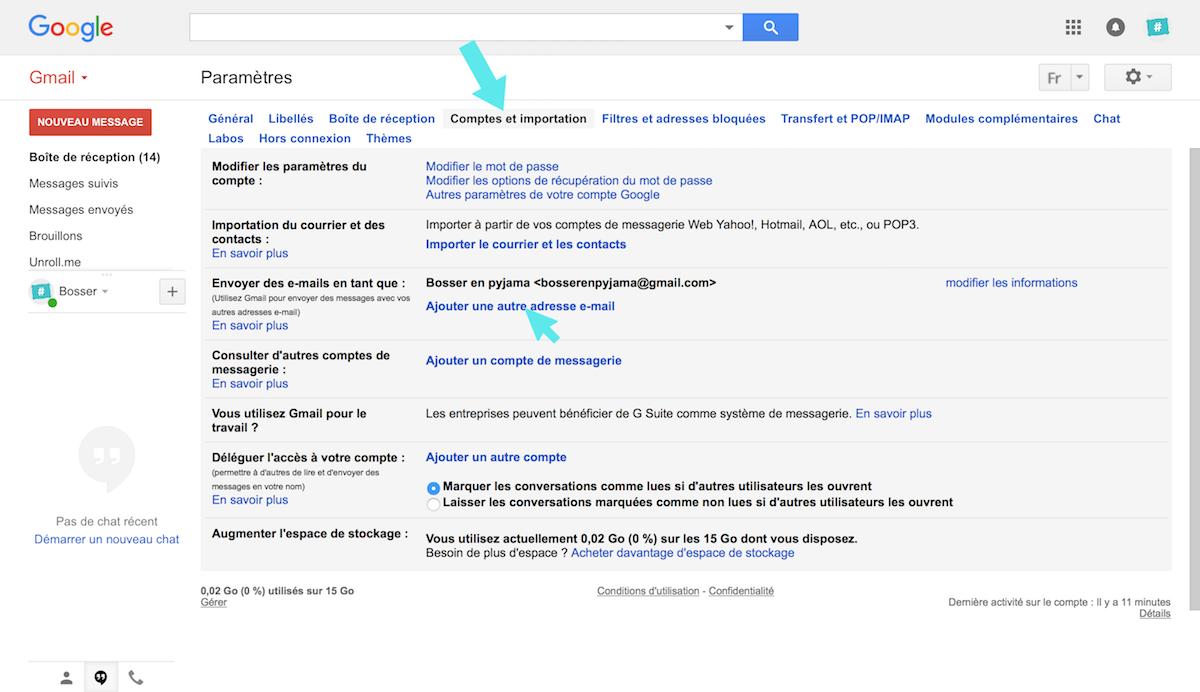 gmail ajouter nouvelle adresse