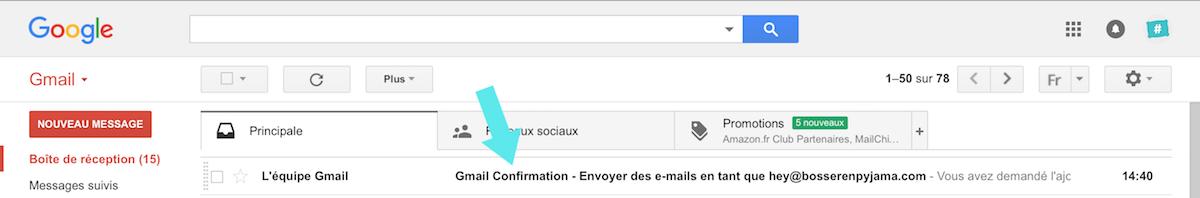 gmail nouveau confirmation