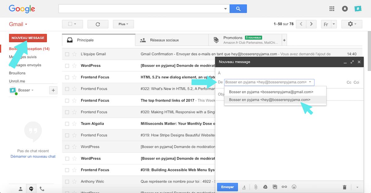 gmail nouvel utilisateur