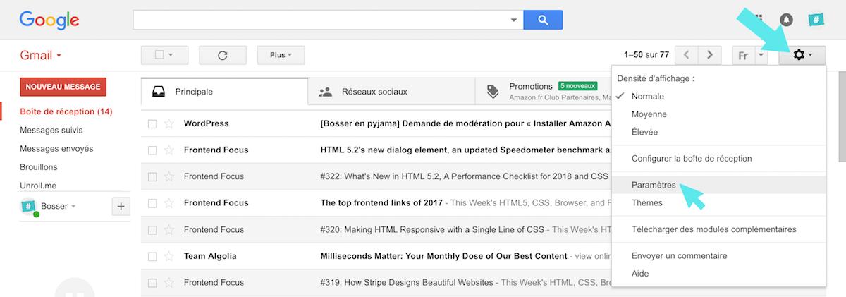 gmail google parameters