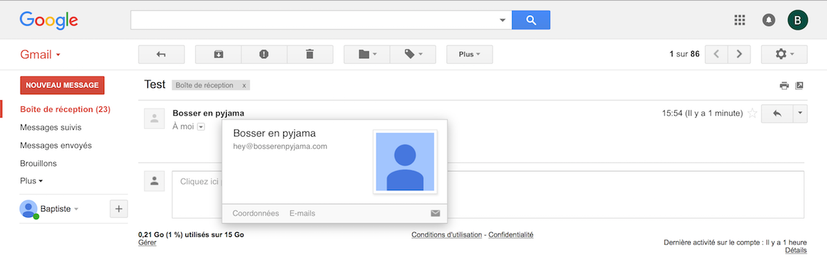 gmail test email