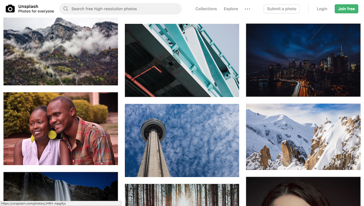 unsplash photos wordpress