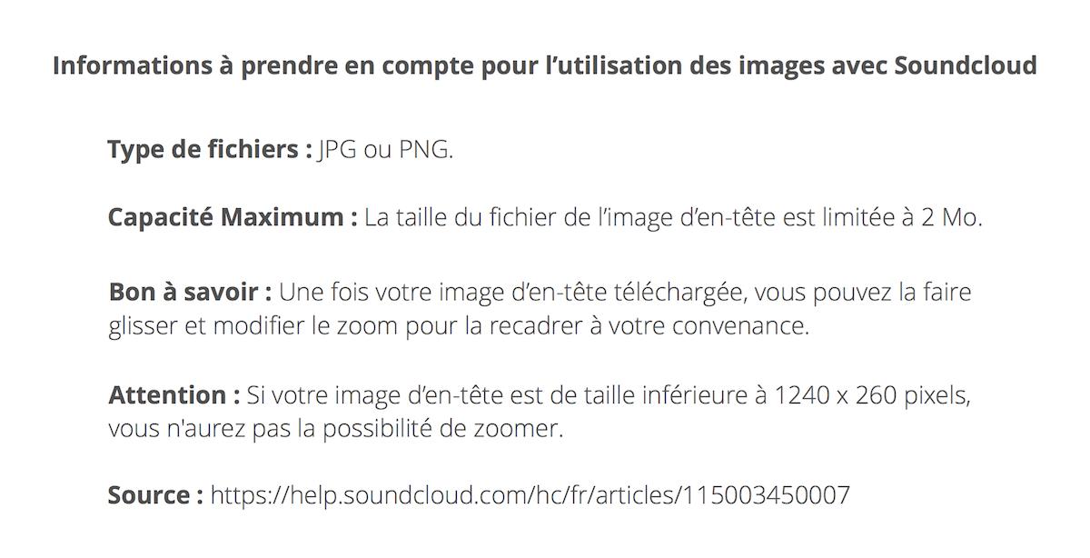 informations soundcloud
