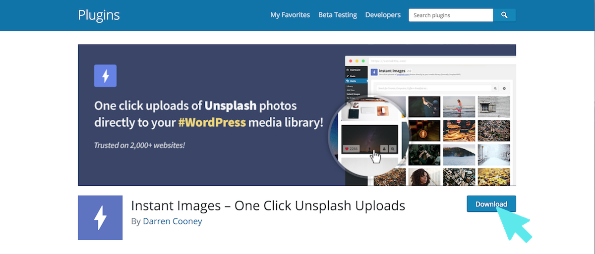wordpress plugin unsplash
