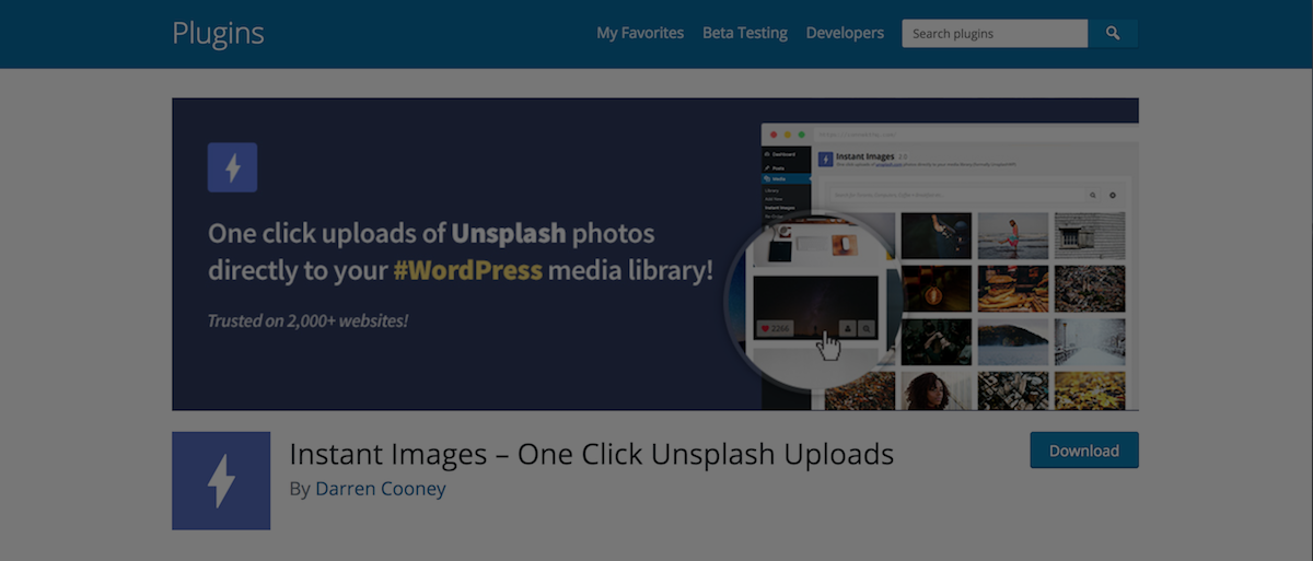 plugin wordpress unsplash