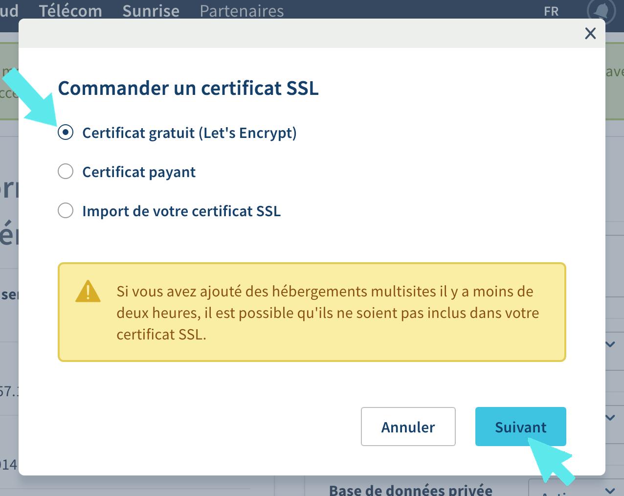 certificat ssl lets encrypt