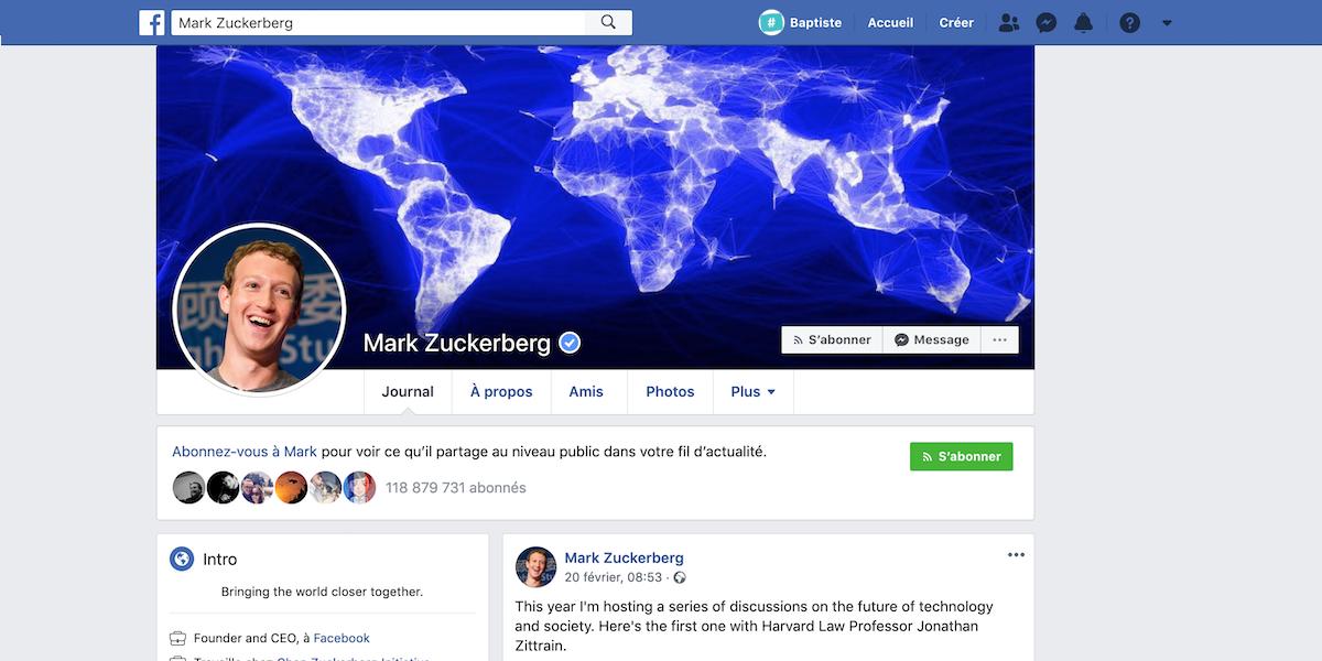 Couleur Bleu pour Facebook