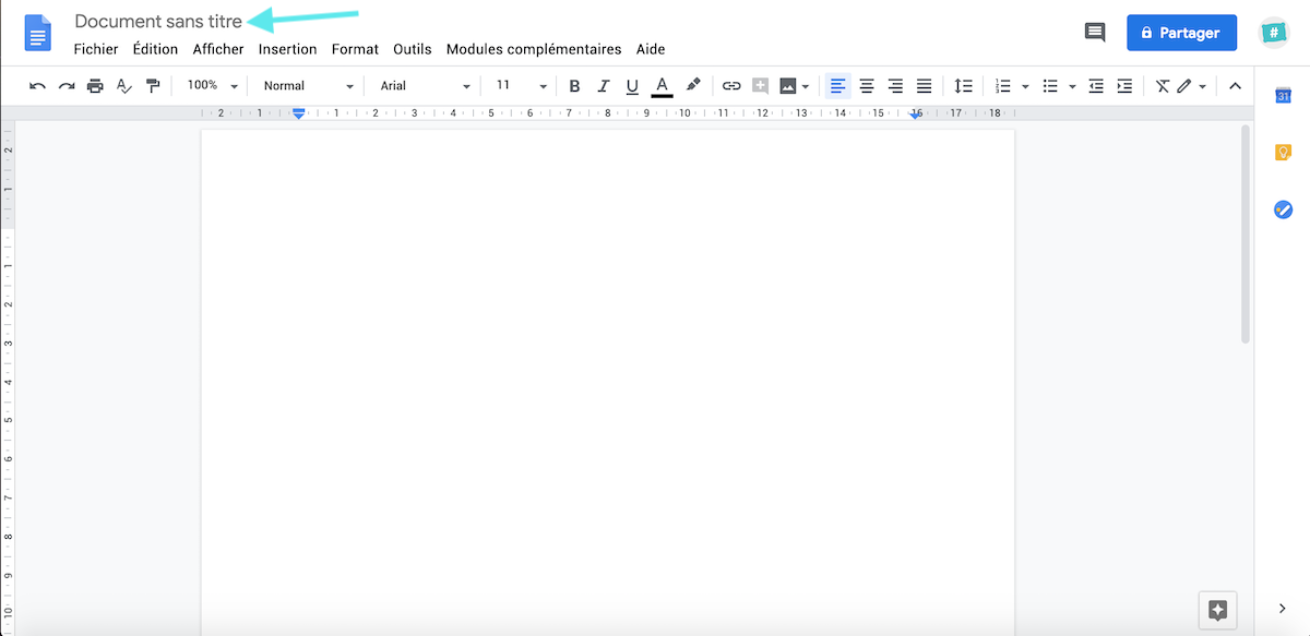Document sans titre Google Docs