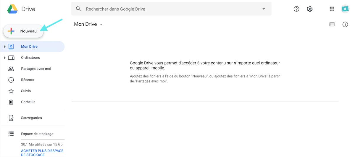 Google Drive Nouveau