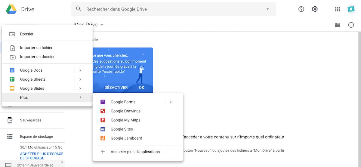 Google Drive logiciels