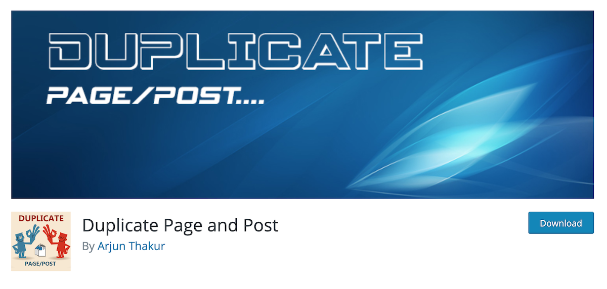 Duplicate post and page plugin