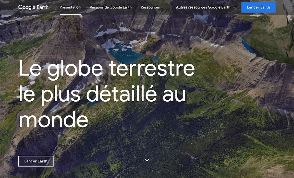 google earth créer des cartes du monde