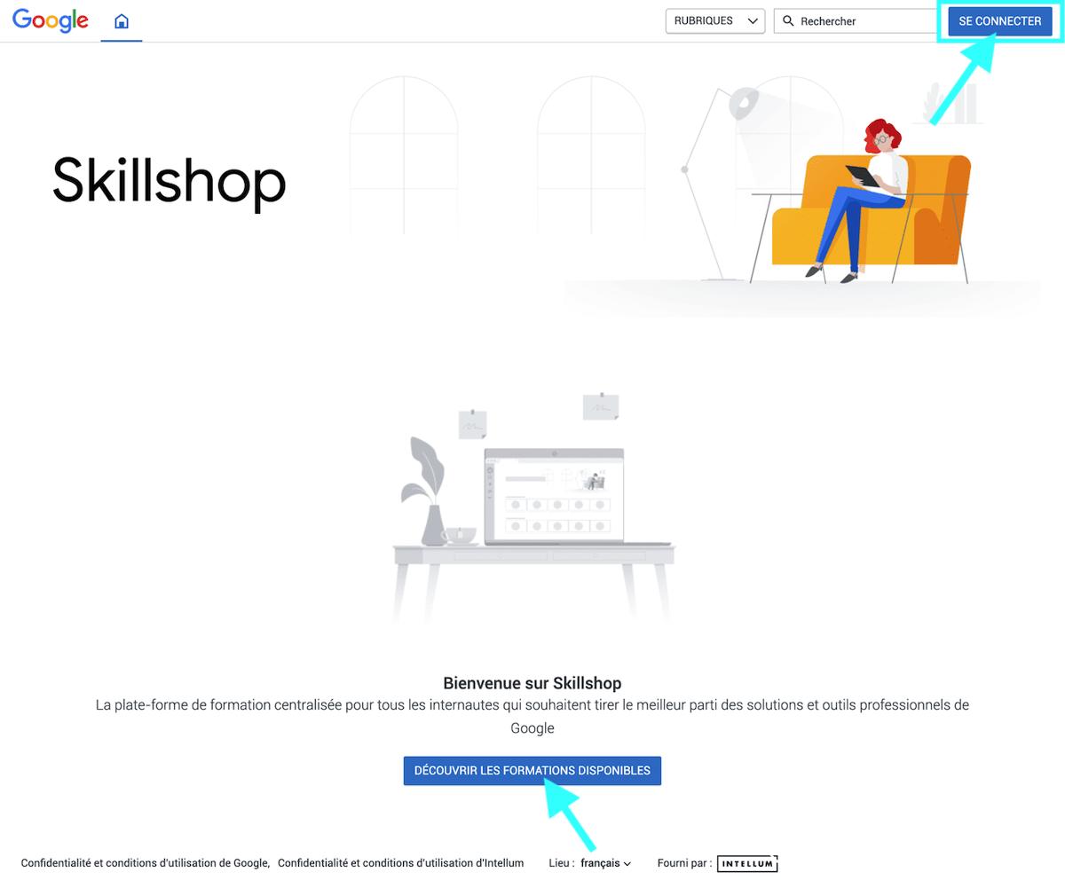 Google Skillshop toutes formations et certifications gratuites