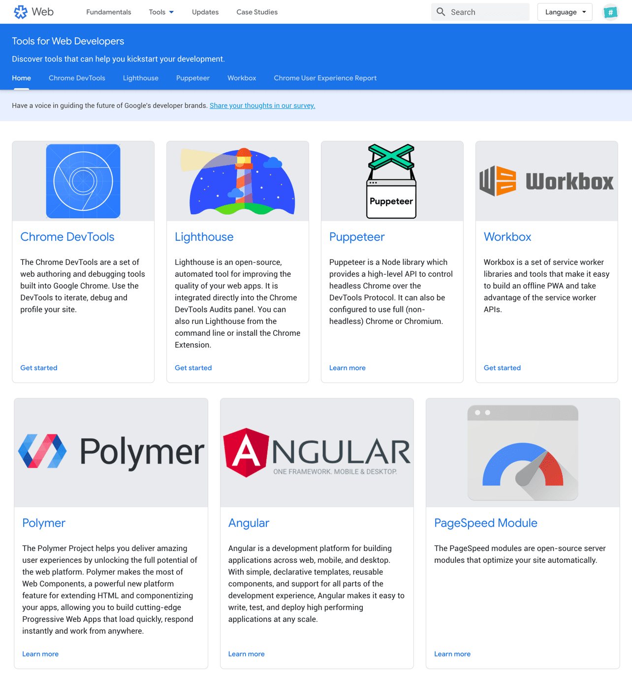 Google tools for developers